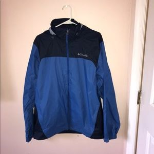 {Columbia} Blue light rain jacket